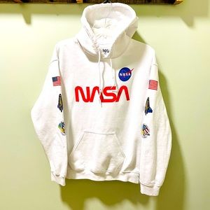 Bowery Supply Co. NASA White Hoodie Size M